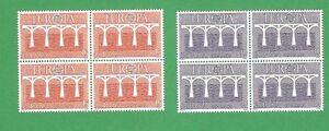 Spain-Edifil-2756-57-MNH-Europa-XXV-Aniversario-BLOQUE-de-4