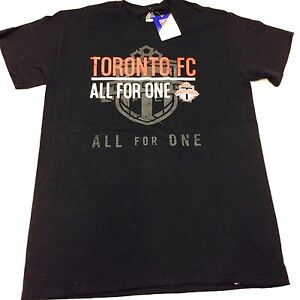 purchase cheap 037b8 32834 Details about Toronto FC MLS Soccer Black Shadow Logo T Shirt Men's By  Majestic Cotton Medium
