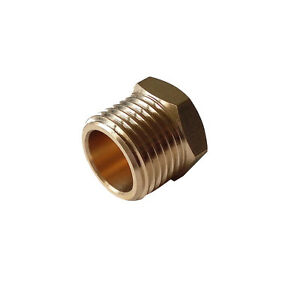 Brass-Pipe-Fitting-Hex-Plug-1-4-034-Male-NPT
