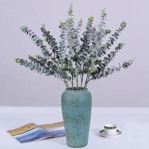 Artificial-Plants-Eucalyptus-Leaves-Silk-Fake-Money-Grass-Wedding-Home-Decor