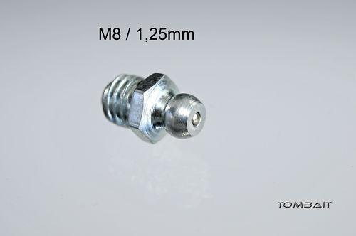 Schmiernippel Fettnippel M8 x 1,25 mm gerade Fettpresse Grease Nipples 1 Stück
