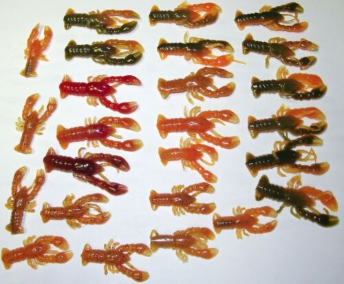 25 Pieces 1-1//2 and 2 inch Crawdads No 2 are alike