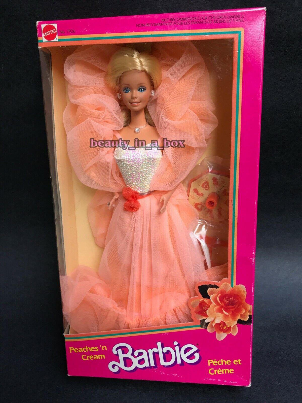 Peaches 'n Cream Muñeca Barbie 1984 Classic n y Caja de Exteriores  Peche et Creme