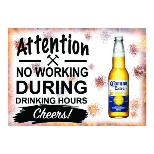 Beer Garden Vintage Metal Sign Choose Guinness Peroni Carlsberg Stella Corona