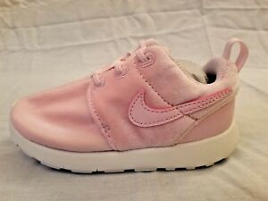 0bd5ba63ab7d Nike Roshe One TDV Arctic Pink White Girls Toddler Shoes 749425-617 ...