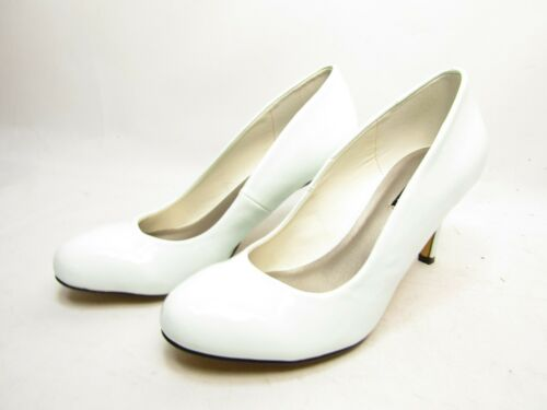 Michael Antonio Womens Finnea-Pat White pat Pumps
