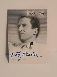 The Twilight Zone Series 1 A12 Fritz Weaver Autograph Card Rittenhouse 1999