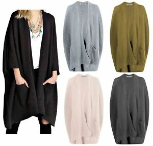 UK New Ladies Womens Chunky Knitted Baggy Oversized Long Jumper ...