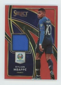 2020 Panini Select EURO KYLIAN MBAPPE' Game Used Patch Relic Red Prizm SP #'d