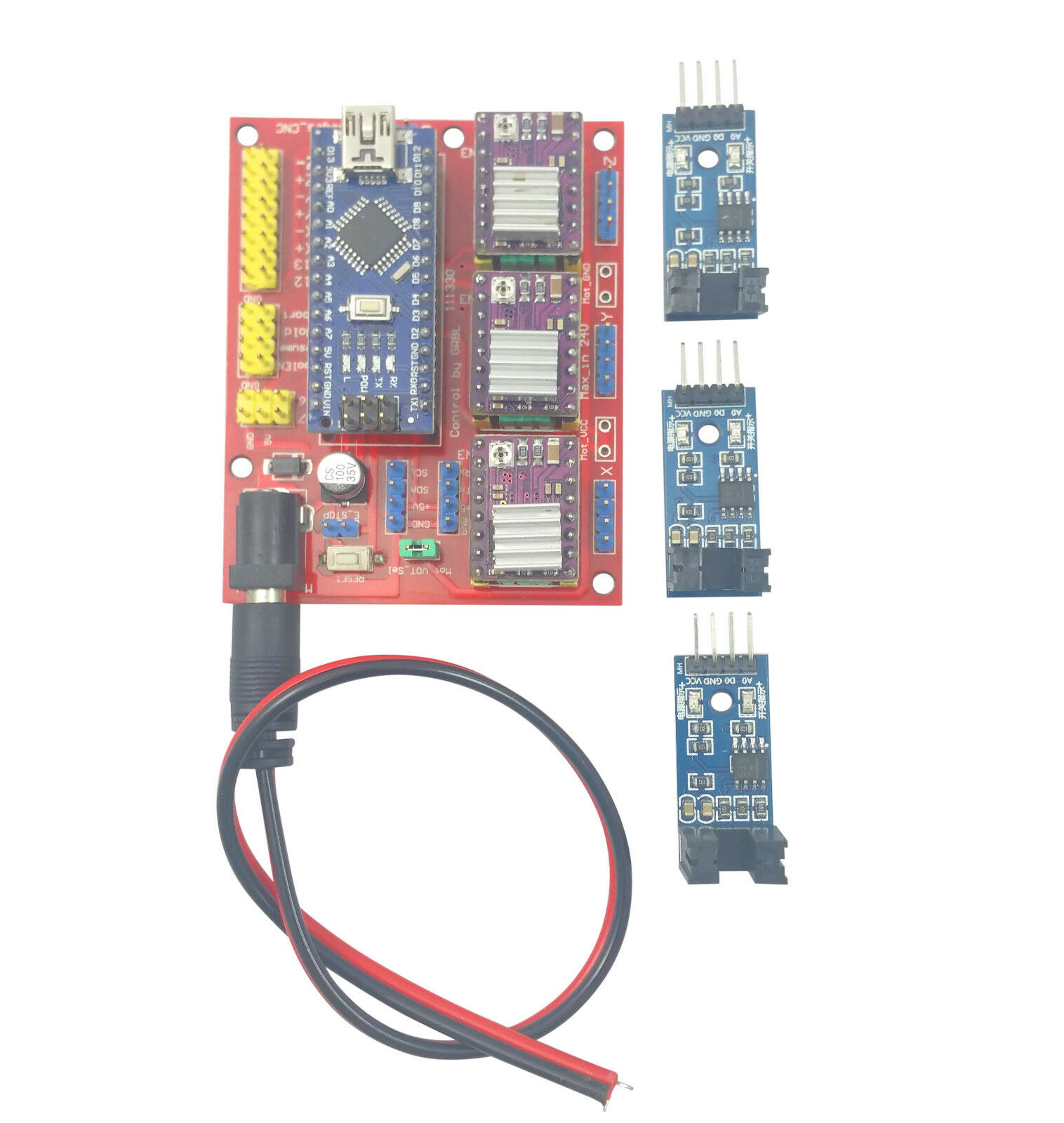 Details about Arduino Nano CNC Shield DRV8825 Board Package Kit w/ 3x  Optical Limit Switch