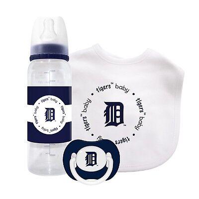 Unparteiisch Detroit Tigers Baby Flasche Lätzchen Schnuller Set Fanartikel Offiziell Zugelassen Mlb Fortgeschrittene Technologie üBernehmen Weitere Ballsportarten