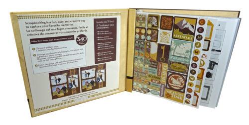 "Travel Memories Scrapbook Kit /""Bon Voyage/"" Retro DIY Photo Album Book"