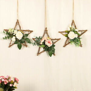 Artificial Flower Wreath Door Hanging Wall Window Wedding Home Garden Decor Ebay