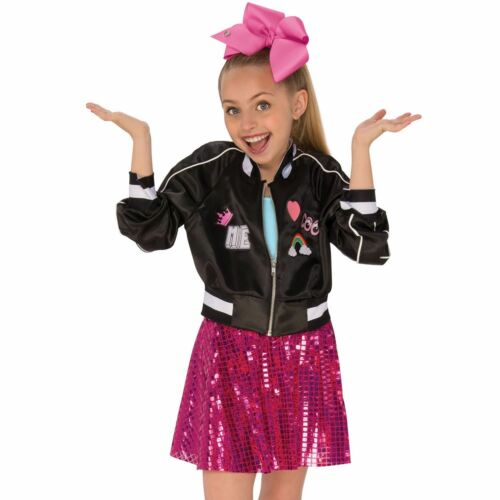 Girls Jojo Siwa Bomber Jacket Child Fancy Dress Costume Outfit