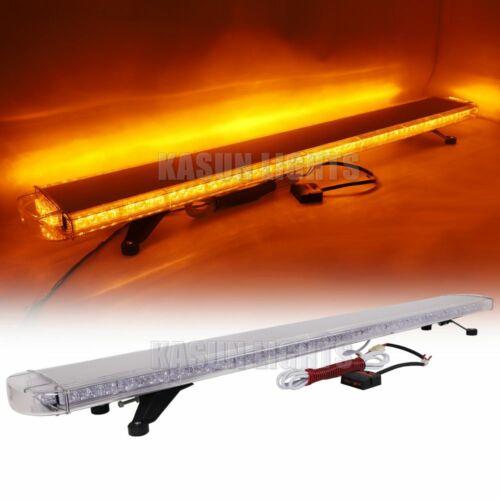 """63/"""" 120 LED EMERGENCY FLASHING LIGHT BAR TRAFFIC ADVISOR ROOF WARN STROBE AMBER"""