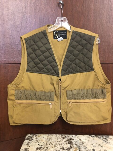 Vintage Columbia Sportswear Hunting Game Bird Fowl Vest Size Large Quilted