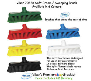 Vikan 3194n Broom Sweeping Brush 610mm Soft Household Supplies & Cleaning Stiff Bristles And Optional Handle Packing Of Nominated Brand Home & Garden