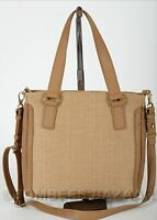 Auth Fossil Tasche Preston Straw Shopper Crossbody Beige Zb6488251