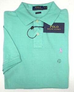 NWT-85-Polo-Ralph-Lauren-Green-SS-Shirt-Mens-S-L-XL-XXL-Classic-Fit-Cotton-Mesh