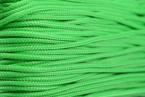 environ 30.48 m Vert fluo-Type 1 95 Cordon 1.59 mm 100 ft corde en nylon-Made in the USA