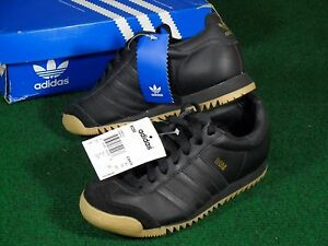 Details about New Mens Adidas Originals ROM Retro Indoor Soccer Shoes Black size 4 036639