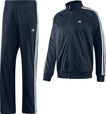 adidas Trainingsanzug Essential 3S Logo SUIT blau Jogginganzug blau Jacke Hose   eBay
