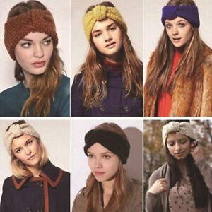 Details Zu Haarband Stirnband Kopfschmuck Gestrickt Schleife Turban Damen Haarbänder Winter