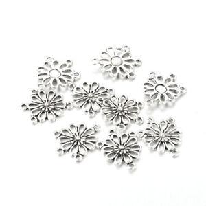 50-Pcs-Alloy-Flower-Antique-Silver-Connector-Link-Chandelier-Component-Findings