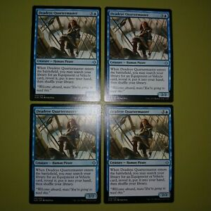 Uncommon MTG Magic MINT 4x Deadeye Quartermaster PLAYSET Ixalan XLN