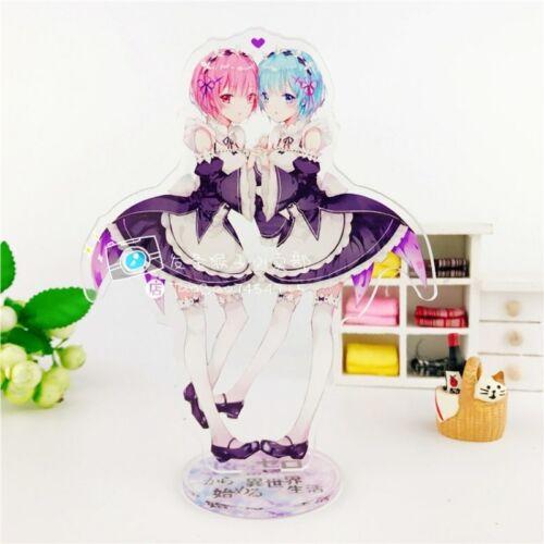 Re:Zero Rem//Ram//Emilia /& More Figure//Acrylic stand