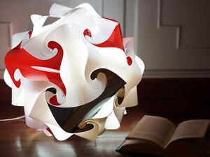 Lampada da tavolo vintage Palla 25 cm Luce soft rossa Abat-jour minimal design