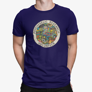 PSYCHEDELIC RESEARCH T SHIRT TERENCE MCKENNA ACID MAGIC MUSHROOM