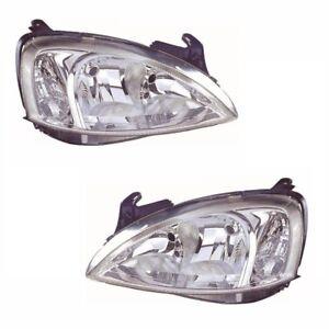 For Vauxhall Corsa C Mk2 Van 10/2003-2006 Headlights Headlamps 1 Pair O/S & N/S