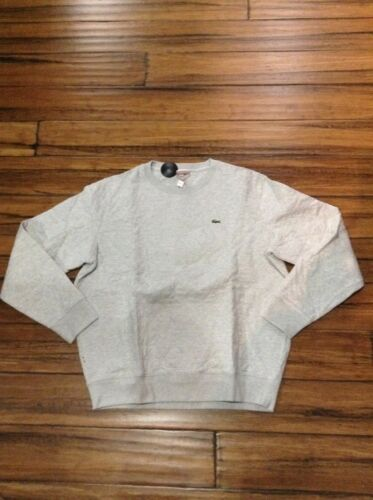 Lacoste L!ve Quilted Cotton Crewneck Sweatshirts Paladium Chin SH2930-51-08A NEW