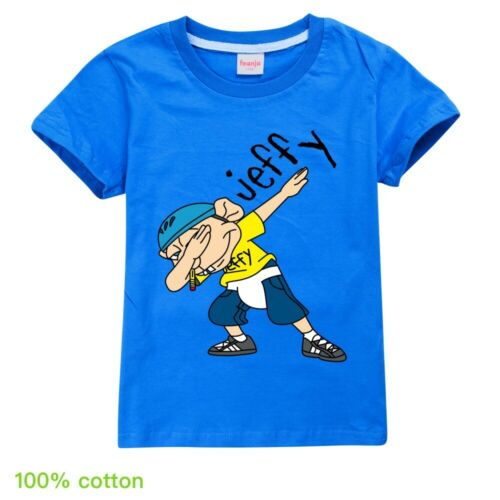 Dabbing Jeffy Puppet Kids T-shirt Youtuber Boy Girl Children Top Cartoon Tshirt