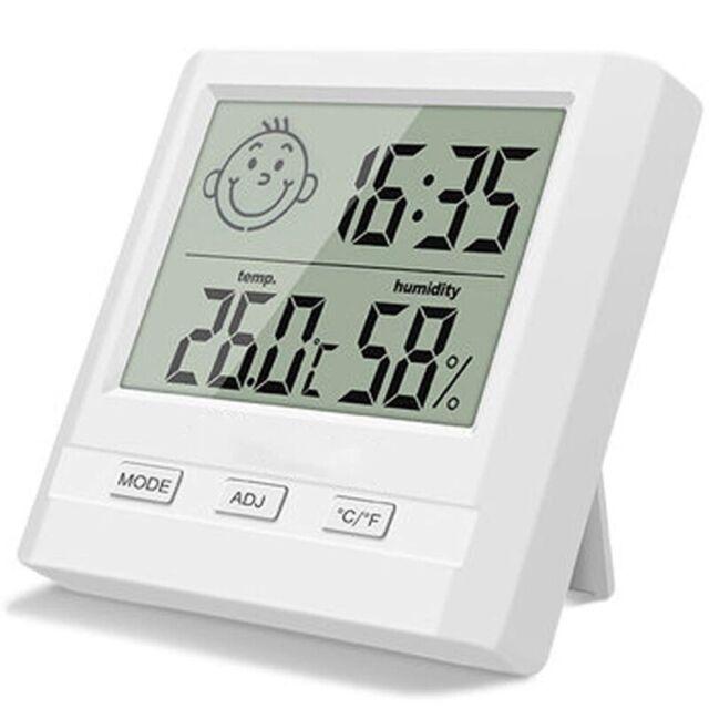 Innen Digital Thermometer Hygrometer mit touchscreen Uhrzeit für Haus,Babyzimmer