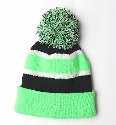 NEW ERA NFL Seattle Seahawks Knit OF18 Navy Green Adult Pom Beanie Hat Men Knit
