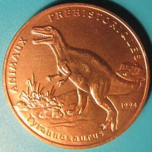 1994-BENIN-200-FRANCS-T-REX-TYRANNOSAURUS-PREHISTORIC-ANIMALS-DINOSAUR-RARE-COIN