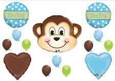 BABY BOY MONKEY SHOWER BALLOONS Decorations Supplies It's A Safari Jungle