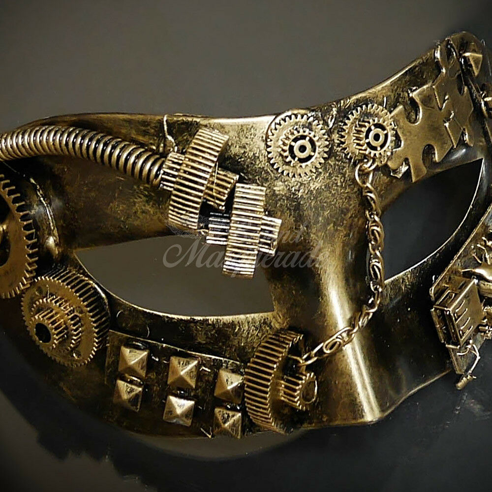 Ring In The Steampunk Decor To Pimp Up Your Home: Steampunk Costume Theater Masquerade Mask For Men M39028