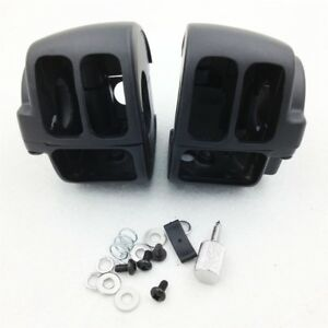 Switch-Housings-Cover-For-2009-Later-Harley-Dyna-Sportsters-Softail-V-Rod-Black