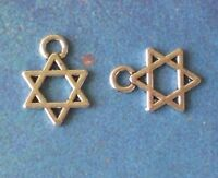 50 Charms Hebrew Faith Judaica Gift Charm Jewish Star Of David Jewelry Pendant