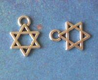 50 Charms Hebrew Faith Judaica Gift Charm Jewish Star Of David Jewelry Pendant
