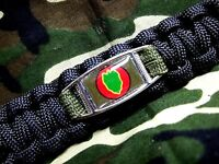 Us Army 24th Infantry Division Victory Paracord Survival Key Carabiner