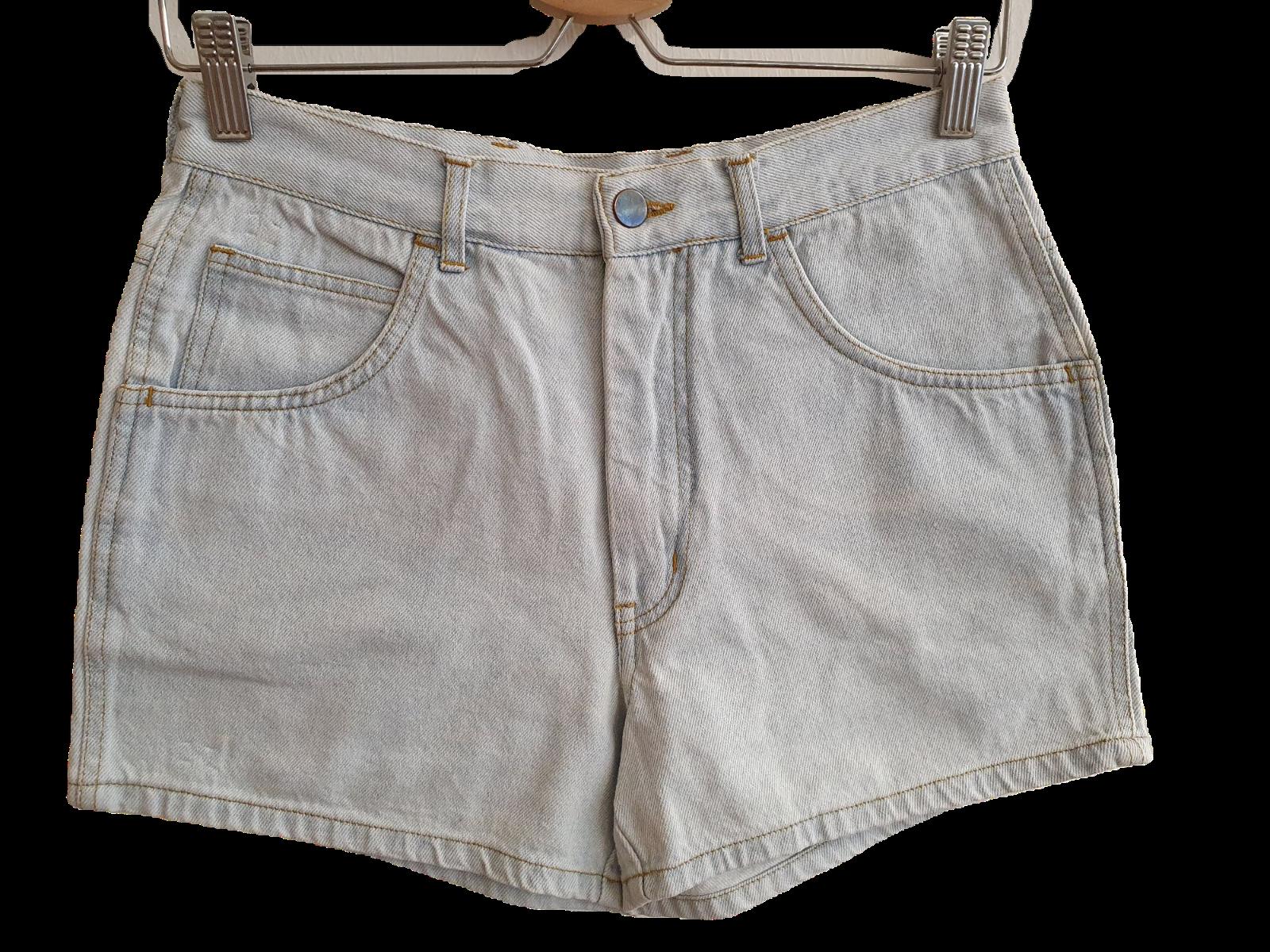 80s 90s Vintage Denim Shorts Größe EU 44 Light Stonewashed Denim (V8066)