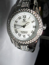 MORGAN DE TOI WATCH DIAMOND SET JEWELLED BRACELET WRISTWATCH MOTHER PEARL FACE