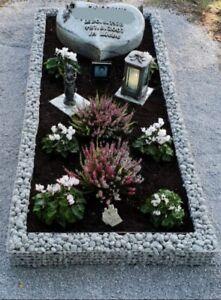 Grabstein Einfassung Grabmal Granit Grabeinfassung 70*60 cm für Urnengrab
