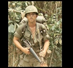 Vietnam War Us Army Patrol Photo 101st Airborne Soldier Rifle 1968 Ebay