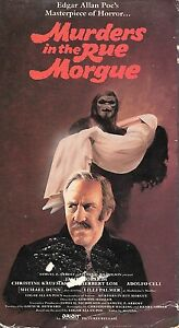 MURDERS-IN-THE-RUE-MORGUE-1971-VHS-Lightning-Video-Jason-Robards-Only-On-VHS
