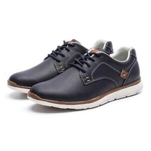 dcee5bf1d16ad Image is loading Men-Casual-Genuine-Leather-Shoes-Fashion-Soft-Autumn-